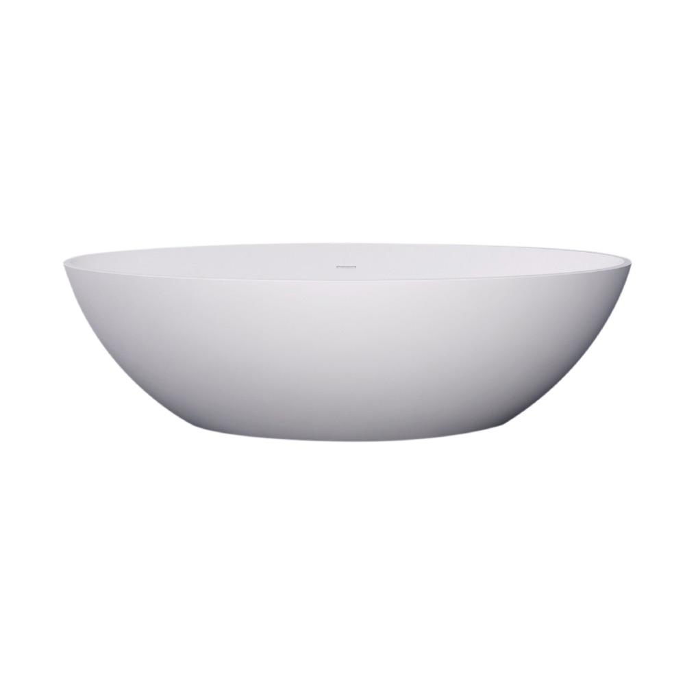 Vrijstaand Bad Mat Wit.Best Design New Stone Vrijstaand Bad Solid Surface