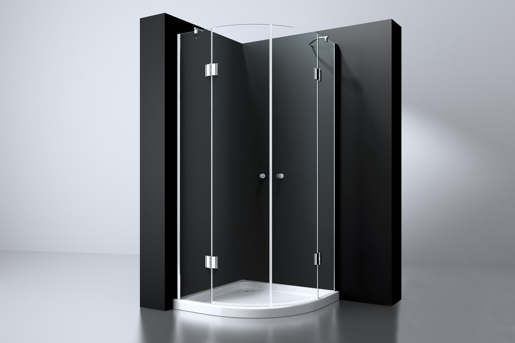 Douchecabine 2 Deuren.Best Design Erico 1 4 Rond Douchecabine Met 2 Deuren 90x90x192cm
