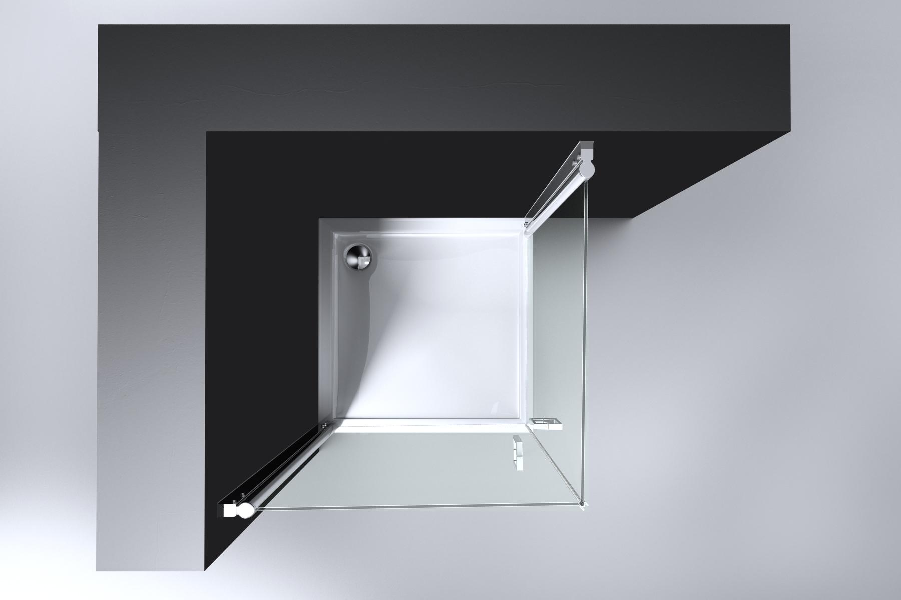 Douchecabine 2 Deuren.Best Design Erico Vierkante Douchecabine Met 2 Deuren 100x100x192cm